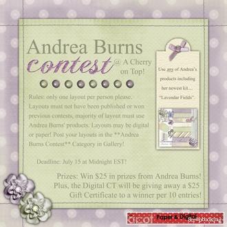 Andrea Burns Contest!