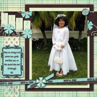 Lisa's First Holy Communion