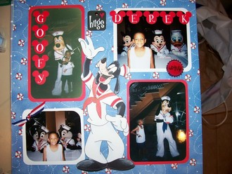 Goofy Hugs Derek  - July Color Challenge
