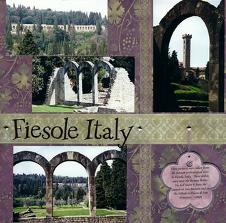 Fiesole, Italy (As seen in Stamping, Stationery and Scrapbooking)