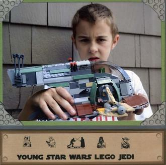 Young Star Wars Lego Jedi