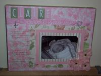 Claire's altered canvas