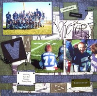 Super Bowl Champs *As seen in Pages by Design Idea Book*