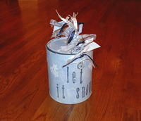 Altered Snowman Paint Can