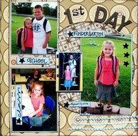 Kayla's 1st day - Kindergarten