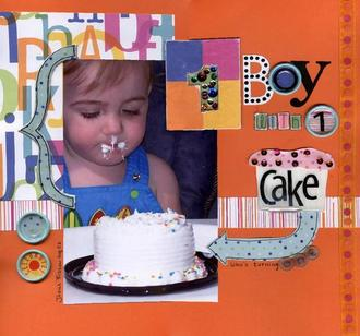 1 BOY with 1 Cake-who's turning one