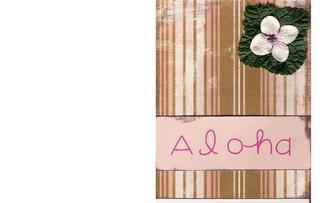 aloha leaf card