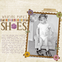 Wearing Papa's Shoes