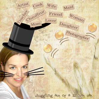 Juggling Act of a 12 Hat Cat