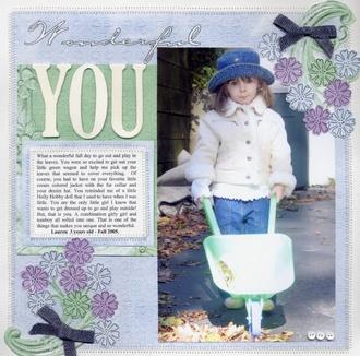Wonderful You - Published Ready, Set, Create Oct/Nov 2006 issue
