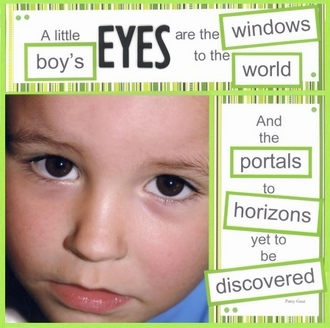 A Little Boy's Eyes - Color Challenge