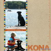 Kona the dock dog