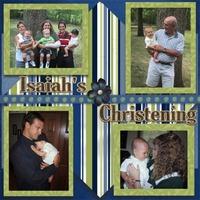 Isaiah's Christening