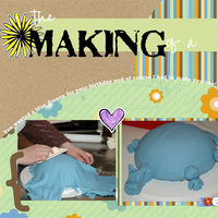 The making of a blue cake! - TWO pages :)