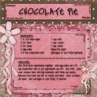 Recipe:  Chocolate Pie