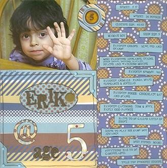 Erik @ Age 5
