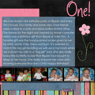 Annie is one! Right side