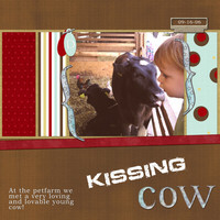 Kissing Cow