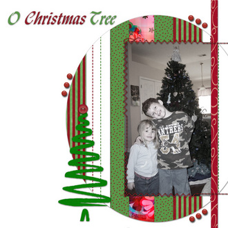 Oh Christmas Tree Challenge 9 *stitching* & Scavenger Hunt