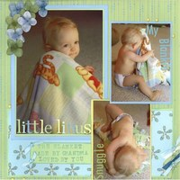 Little Linus *Cantata Books Fast & Easy Scrapbook Pages*