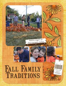 Fall Family Tradiitons
