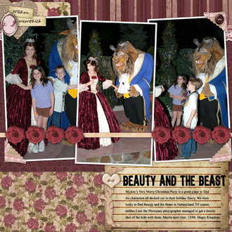 Beauty and the Beast at Disney