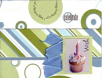 Celebrate Card  (As seen in Stamping, Stationery & Scrapbooking 1st Qtr 2007)