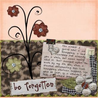 Be forgotten