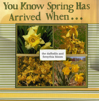 You Know Spring Has Arrived When . . .