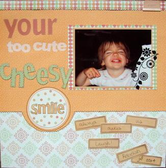 Cheesy Smile- April Ad Inspiration