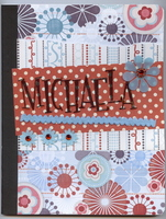 Altered comp book Michaela