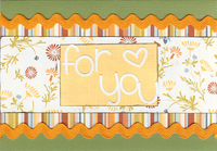 For You -- Fast Scrap 11 Spring Card