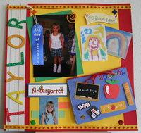 Taylor's Kindergarten Days