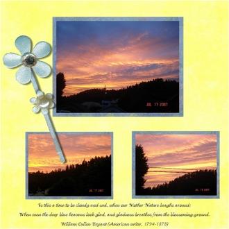 July Scotia Morning Sky