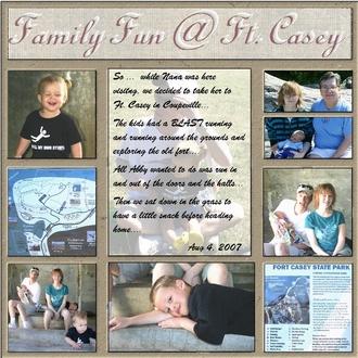 Family Fun @ Ft. Casey.