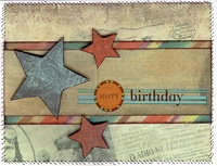 Happy Birthday Star Card **Dream Street Papers**