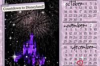 Countdown to Disney calendar magnet