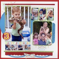 Colin's 3rd Birthday Layout - featuring American Crafts