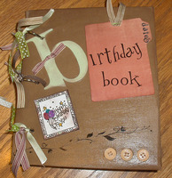 Birthday Date Book