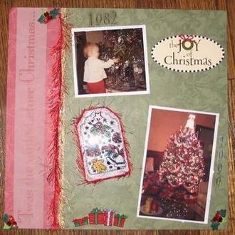 Christmas w/acrylic tag
