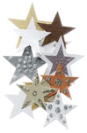 Gold & Brown Stars 3-D Stickers - Jolee's By You
