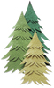 Pine Tree - Green  3-D Stickers - Jolee's By You