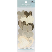 Gold Hearts  3-D Stickers - Jolee's By You