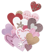 Pink & Gold Hearts 3-D Stickers - Jolee's By You