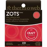 Zots Clear Adhesive All Purpose Craft Dots, 250/pkg