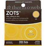 Zots 3-D Clear Adhesive Dots, 200/pkg