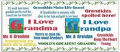 I Love Grandpa & Grandma Clear Stickers