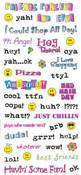 Teen Talk Clear Stickers