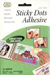 Sticky Dots Die Cut Adhesive Sheets, 12/pkg