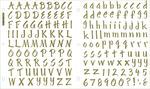 Foil Gold Letters